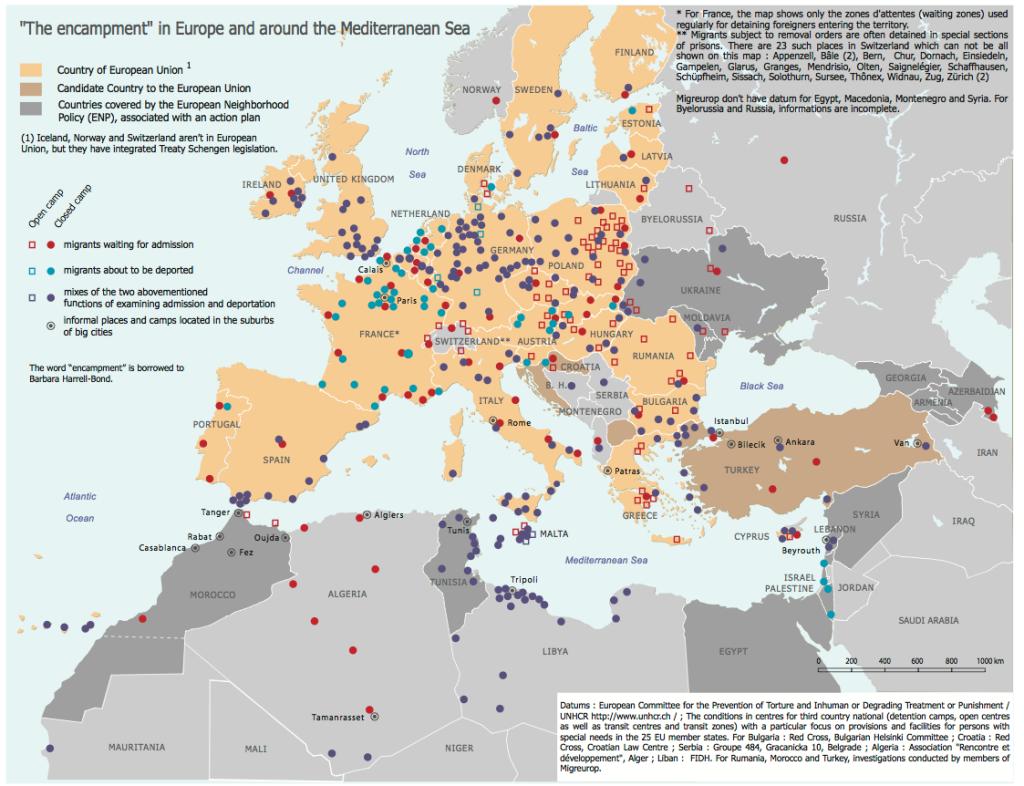 Ένας χάρτης της ευρώπης και των γύρω