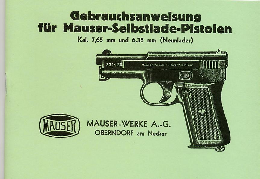 App0001 Mauser 1910-1914 Mod Pistol